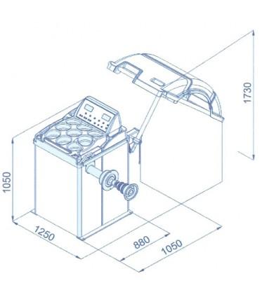 Балансировочный станок (вес колеса 65кг) CB910GB 220V BRIGHT