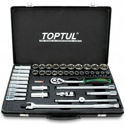 """Набор инструмента 1/2"""" комбинированный (короткие+длинные головки) TOPTUL GCAD4102"""